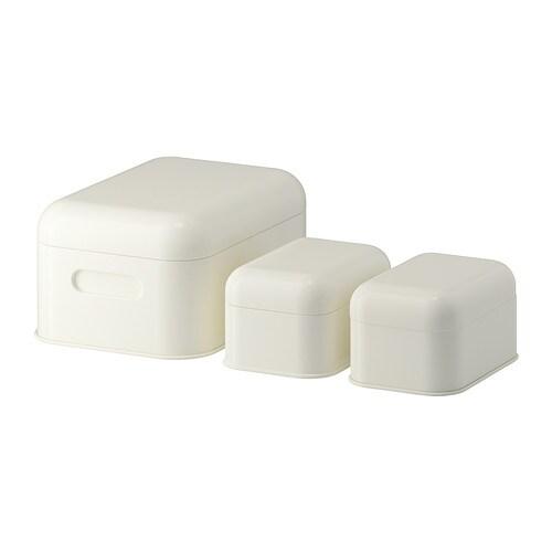 Snika set di 3 scatole con coperchio bianco ikea - Scatole per armadi ikea ...