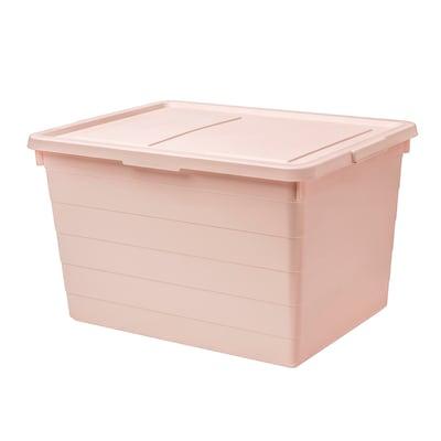 SOCKERBIT Contenitore con coperchio, rosa, 38x51x30 cm