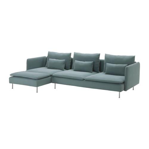 S derhamn divano a 3 posti e chaise longue finnsta turchese ikea - Ikea divano chaise longue ...