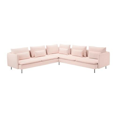 S derhamn divano angolare a 6 posti samsta rosa pallido for Divano 6 posti angolare