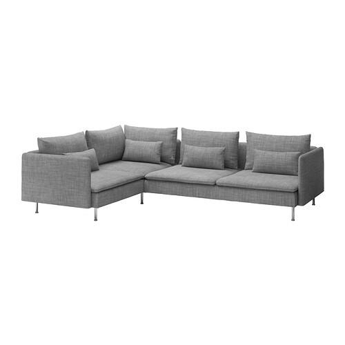 SÖDERHAMN Divano angolare - Isunda grigio - IKEA