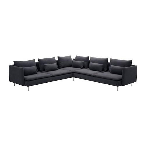 S derhamn divano angolare samsta grigio scuro ikea - Ikea divano angolare ...