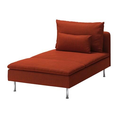 S derhamn fodera per chaise longue isunda arancione ikea - Fodera divano con chaise longue ...