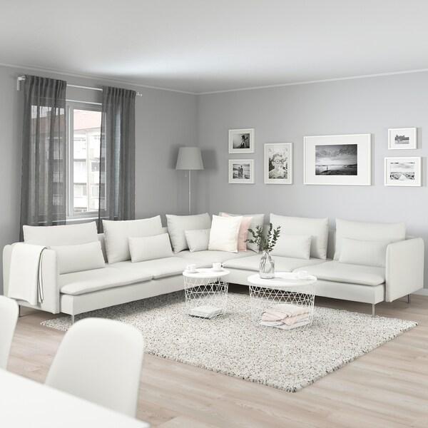 Divani Angolari 6 Posti.Soderhamn Divano Angolare A 6 Posti Finnsta Bianco Ikea