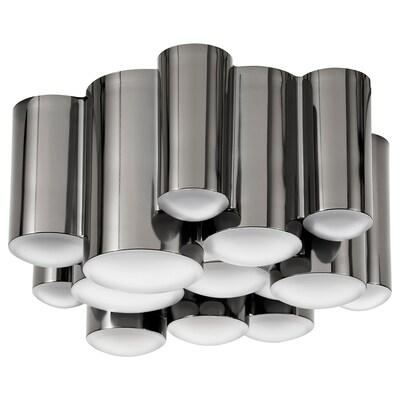 SÖDERSVIK Plafoniera a LED, nero/cromato, 21 cm