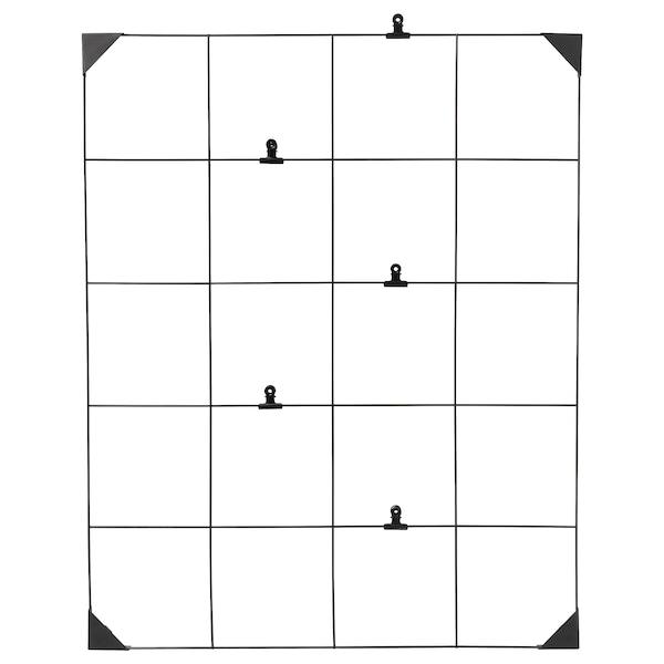 SÖSDALA Bacheca con clip, nero, 60x75 cm