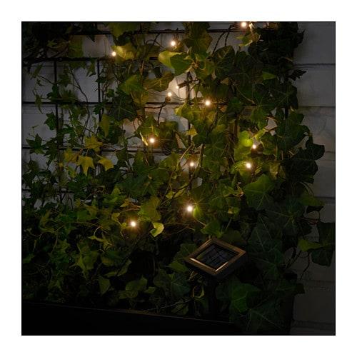 Solarvet illuminazione a led 12 luci ikea - Luci esterno ikea ...