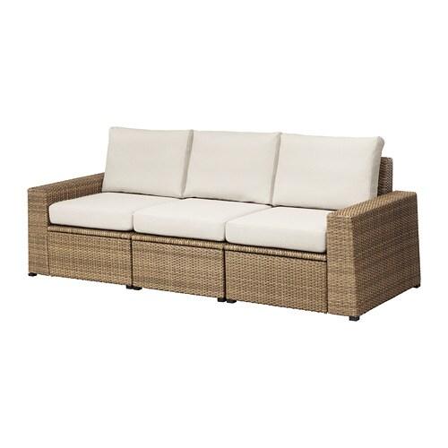 Soller n divano a 3 posti da esterno marrone fr s n - Lettini da giardino ikea ...