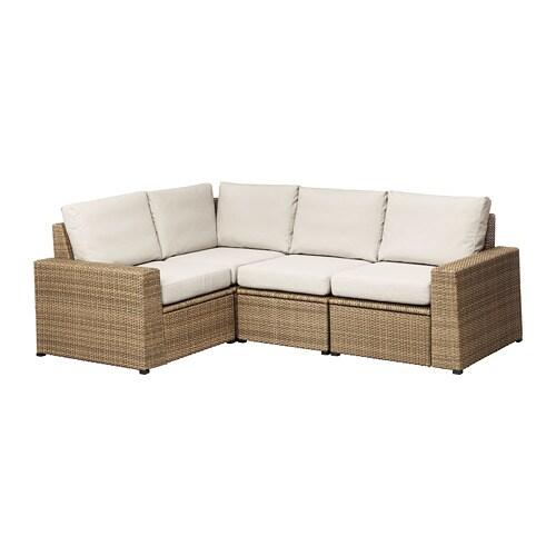 Soller n divano angolare 3 1 da esterno marrone fr s n for Ikea divani esterno