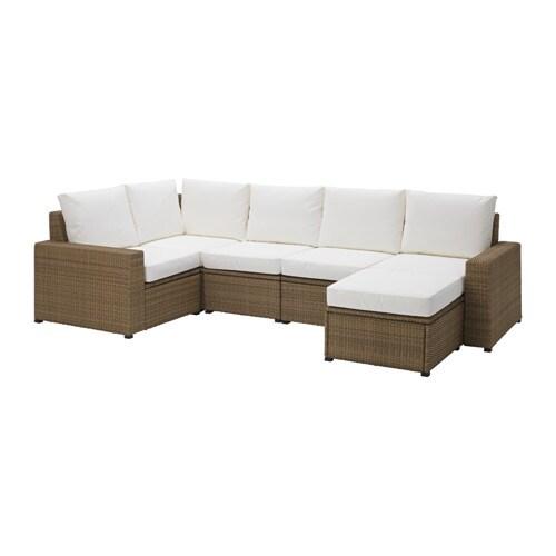 Soller n divano 4 1 e poggiapiedi da esterno marrone kungs bianco ikea - Divani da esterno ikea ...