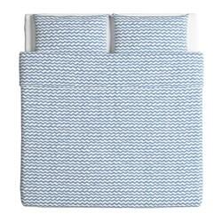 SOMMAR 2016 Copripiumino e 2 federe, matrimoniale, blu - Sottocosto IKEA Torino