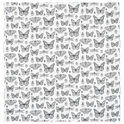 SOMMARMALVA tessuto a metraggio bianco sporco/grigio scuro 230 g/m² 150 cm 30 cm