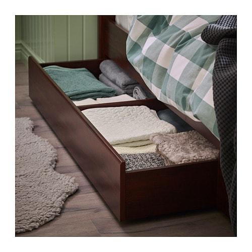 SONGESAND Struttura letto con 4 cassetti - 160x200 cm, Luröy, bianco ...