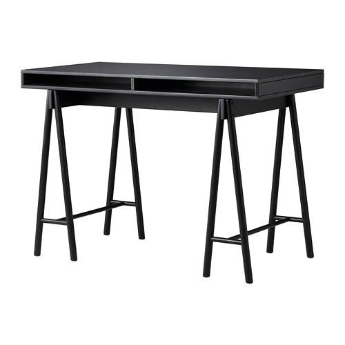 Sp nst piano tavolo con cavalletti ikea - Tavolo nero ikea ...