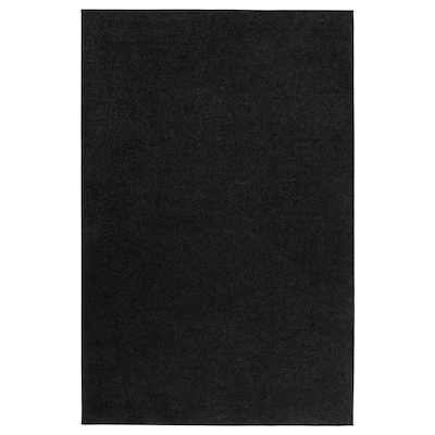 SPORUP Tappeto, pelo corto, nero, 133x195 cm