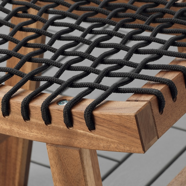 STACKHOLMEN Sgabello da giardino, mordente marrone chiaro, 48x35x43 cm