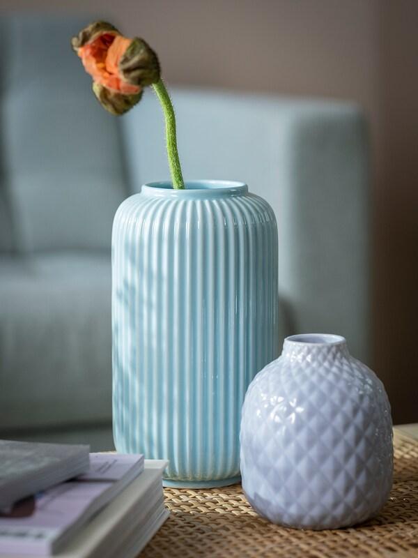 STILREN vaso blu 22 cm