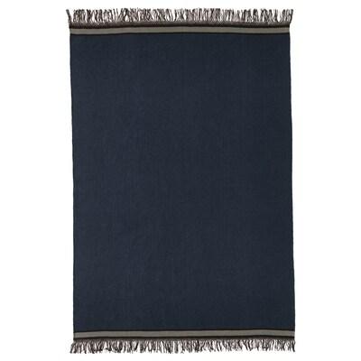 STOCKHOLM 2017 Tappeto, tessitura piatta, fatto a mano/blu, 170x240 cm