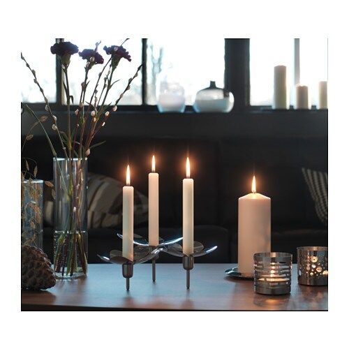Stockholm candeliere per 3 candele ikea for Candele ikea