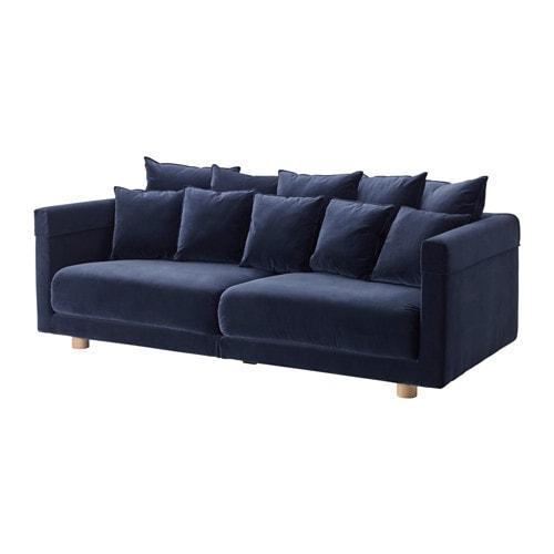 Stockholm 2017 divano a 3 posti sandbacka blu scuro ikea - Ikea divani 3 posti ...