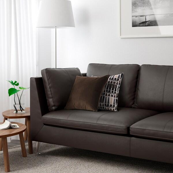 Divano Pelle Ikea 3 Posti.Stockholm Divano A 3 Posti Seglora Marrone Scuro Ikea