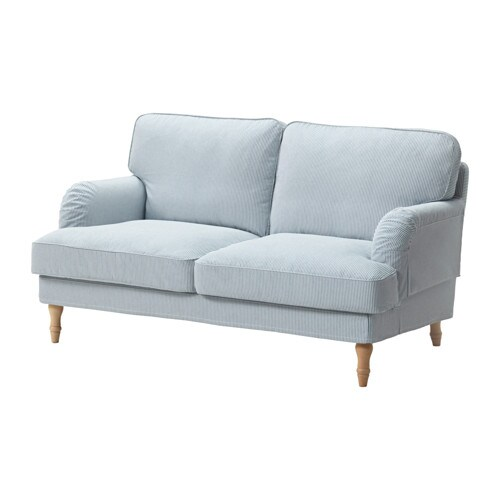 stocksund divano a 2 posti remvallen blu bianco marrone chiaro ikea. Black Bedroom Furniture Sets. Home Design Ideas