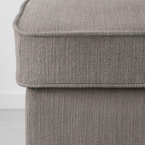 STOCKSUND Panca, Nolhaga grigio-beige/nero/legno