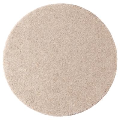 STOENSE Tappeto, pelo corto, bianco sporco, 130 cm