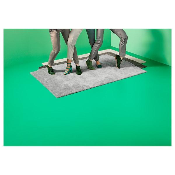 STOENSE Tappeto, pelo corto, grigio scuro, 200x300 cm