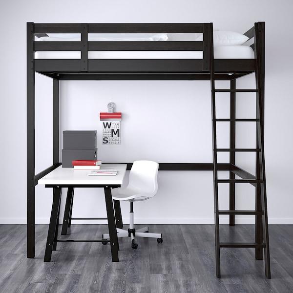 Letto A Soppalco Usato.Stora Struttura Per Letto A Soppalco Nero 140x200 Cm Ikea