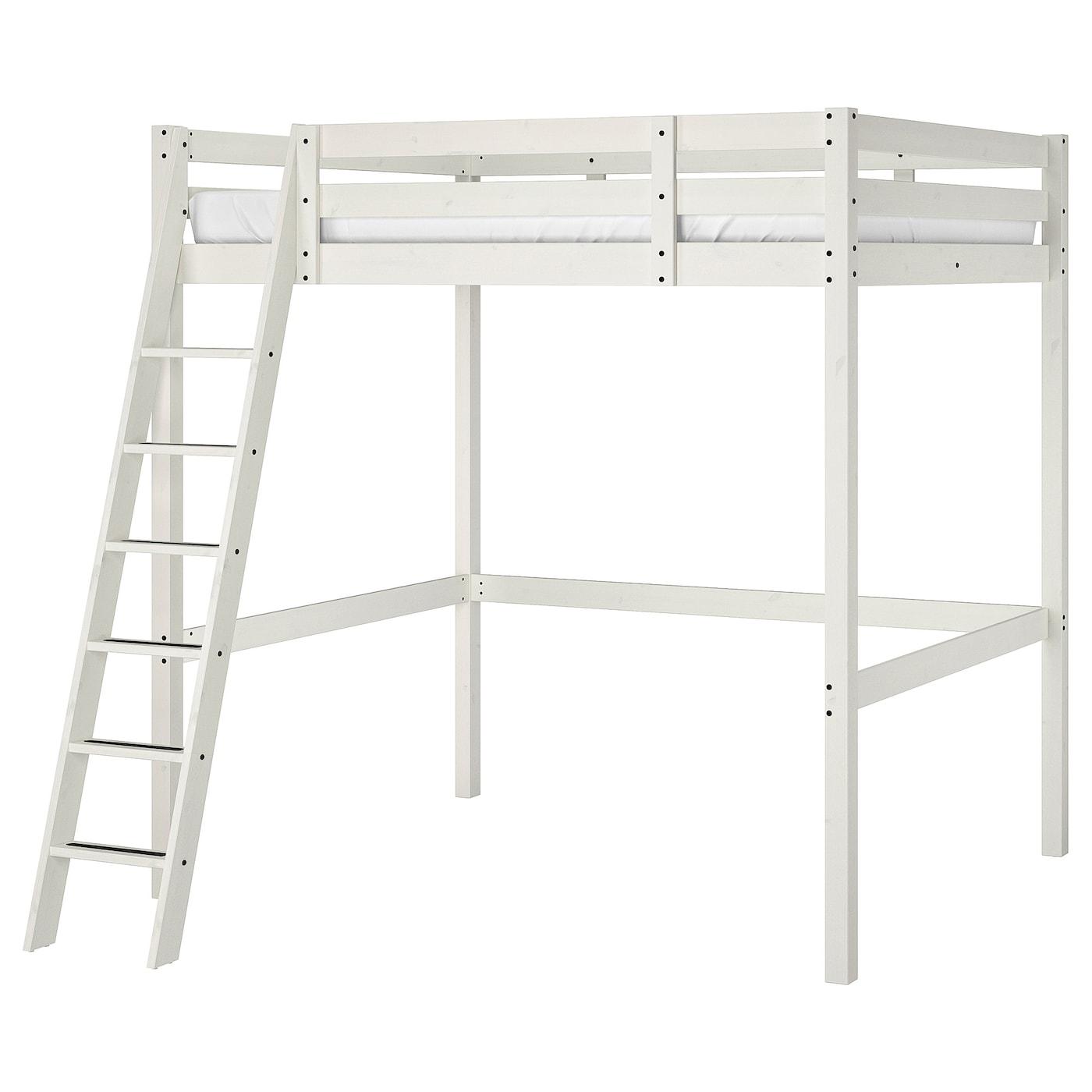 Letto A Castello Ikea Bianco.Stora Struttura Per Letto A Soppalco Mordente Bianco 140x200 Cm
