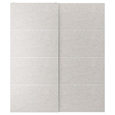 STORFOSNA Coppia di ante scorrevoli, grigio chiaro feltro, 200x236 cm