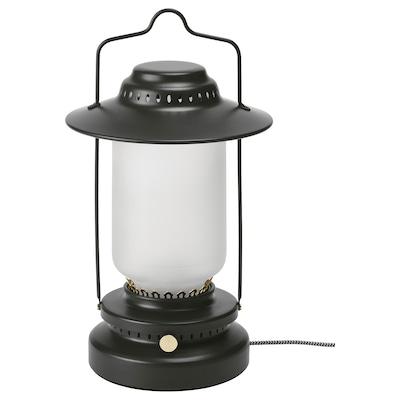 STORHAGA Lampada da tavolo a LED, intensità luminosa regolabile da esterno/nero, 35 cm