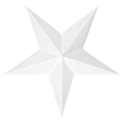 STRÅLA Paralume, a pois bianco, 70 cm