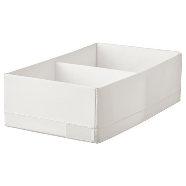 STUK Contenitore a scomparti, bianco, 20x34x10 cm