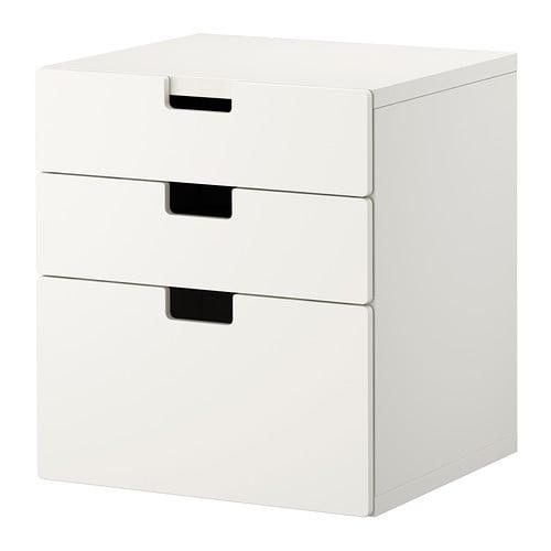 Stuva cassettiera con 3 cassetti bianco ikea - Fasciatoio cassettiera ikea ...