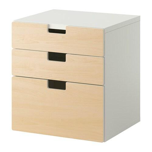 Stuva cassettiera con 3 cassetti betulla ikea - Letto stuva ikea ...