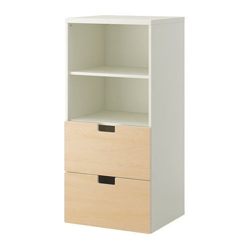 Stuva combinazione di mobili bianco betulla ikea for Mobili cameretta ikea