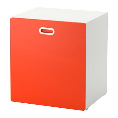 Contenitori Per Giocattoli In Plastica.Stuva Fritids Contenitore Giocattoli Con Rotelle Bianco Rosso Ikea