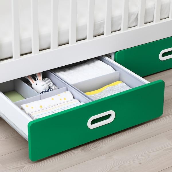 STUVA / FRITIDS lettino con cassetti verde 126 cm 66 cm 86 cm 60 cm 120 cm 20 kg