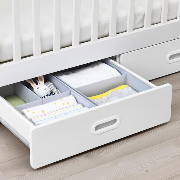 STUVA / FRITIDS lettino con cassetti bianco 126 cm 66 cm 86 cm 60 cm 120 cm 20 kg