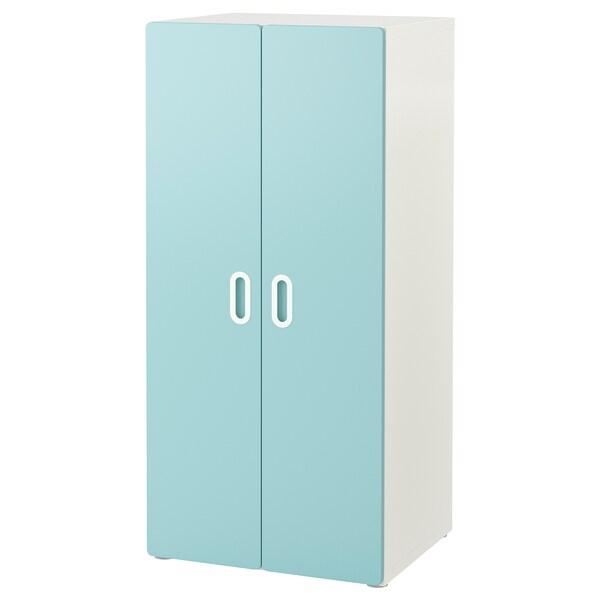 STUVA / FRITIDS guardaroba bianco/azzurro 60 cm 50 cm 128 cm