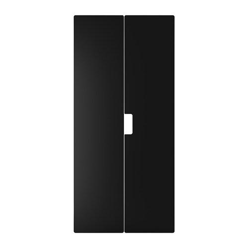 STUVA MÅLAD Anta , nero Altezza: 128 cm Larghezza: 60.0 cm Quantità/confezione: 2 pezzi