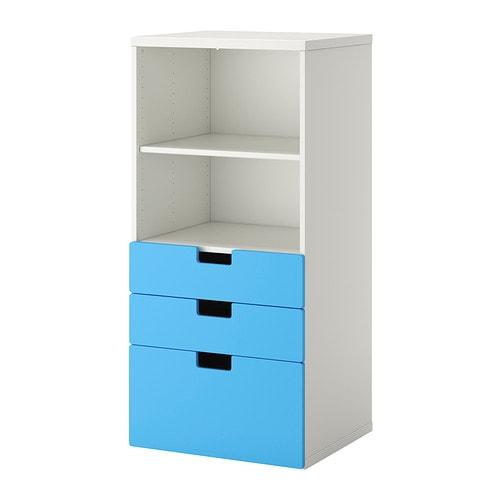 Stuva mobili con cassetti bianco blu ikea for Mobili cameretta ikea