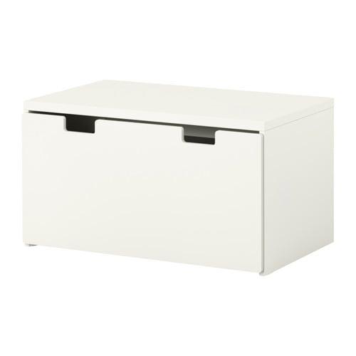 Stuva panca con vano contenitore bianco bianco ikea for Ikea panca contenitore