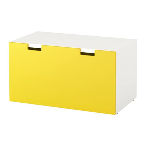 stuva panca con vano contenitore bianco giallo ikea. Black Bedroom Furniture Sets. Home Design Ideas