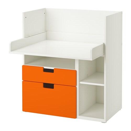 STUVA Scrivania con 2 cassetti - bianco/arancione - IKEA