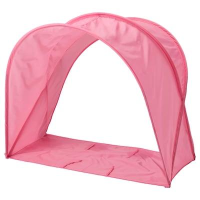 SUFFLETT tenda per letto rosa 80 cm
