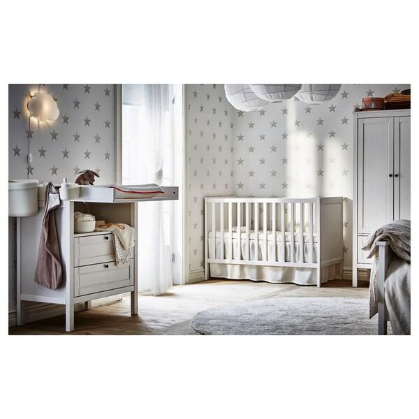 SUNDVIK Lettino, bianco, 60x120 cm