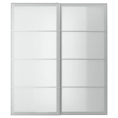 SVARTISDAL Coppia di ante scorrevoli, bianco effetto carta, 200x236 cm